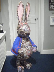 Dexter the Decoupage Rabbit