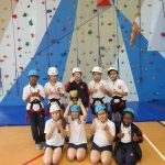 By the climbing wall