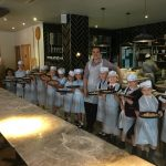 The class with their yummy Pizzas!!