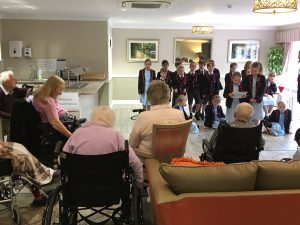 Reading to residents @ Kingsclere