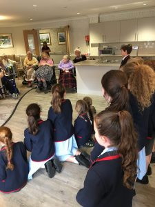 Singing to residents @ Kingsclere