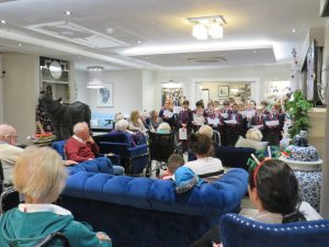 Year 5 & 6 singing to the residents