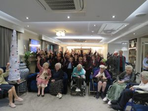 Year 5 & 6 with Kings Lodge residents