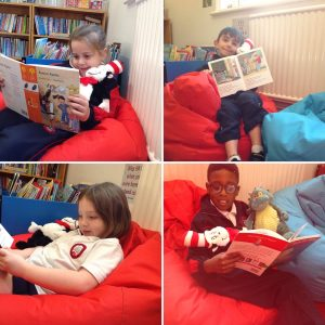 Y2 Reading in the Library