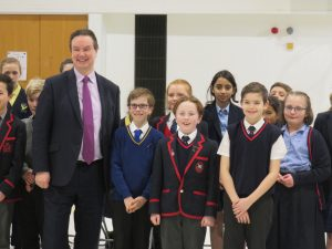 Jonathan Lord MP with children at Greenfield