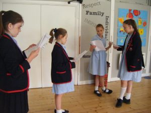 Drama - Rehearsing the lines