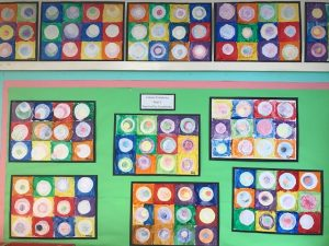 Year Two Kandinsky Concentric Circles