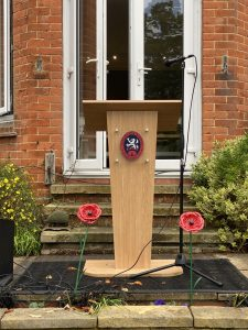 Getting ready for Remembrance at Lyndhurst
