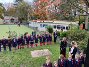 Year 4 at Remembrance Service