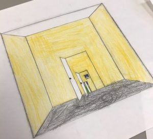 Year 6 using illusion techniques