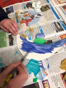 Delicate painting in Year 4