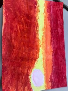 Exploring colour and paint to create an African Sunset