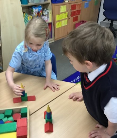 Reception Matching Shapes to Create Pictures