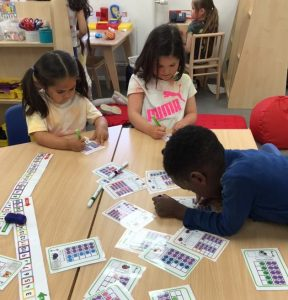 Reception counting teen numbers