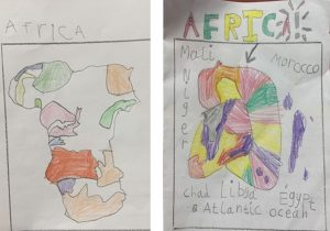 Year 1 Colourful African Maps