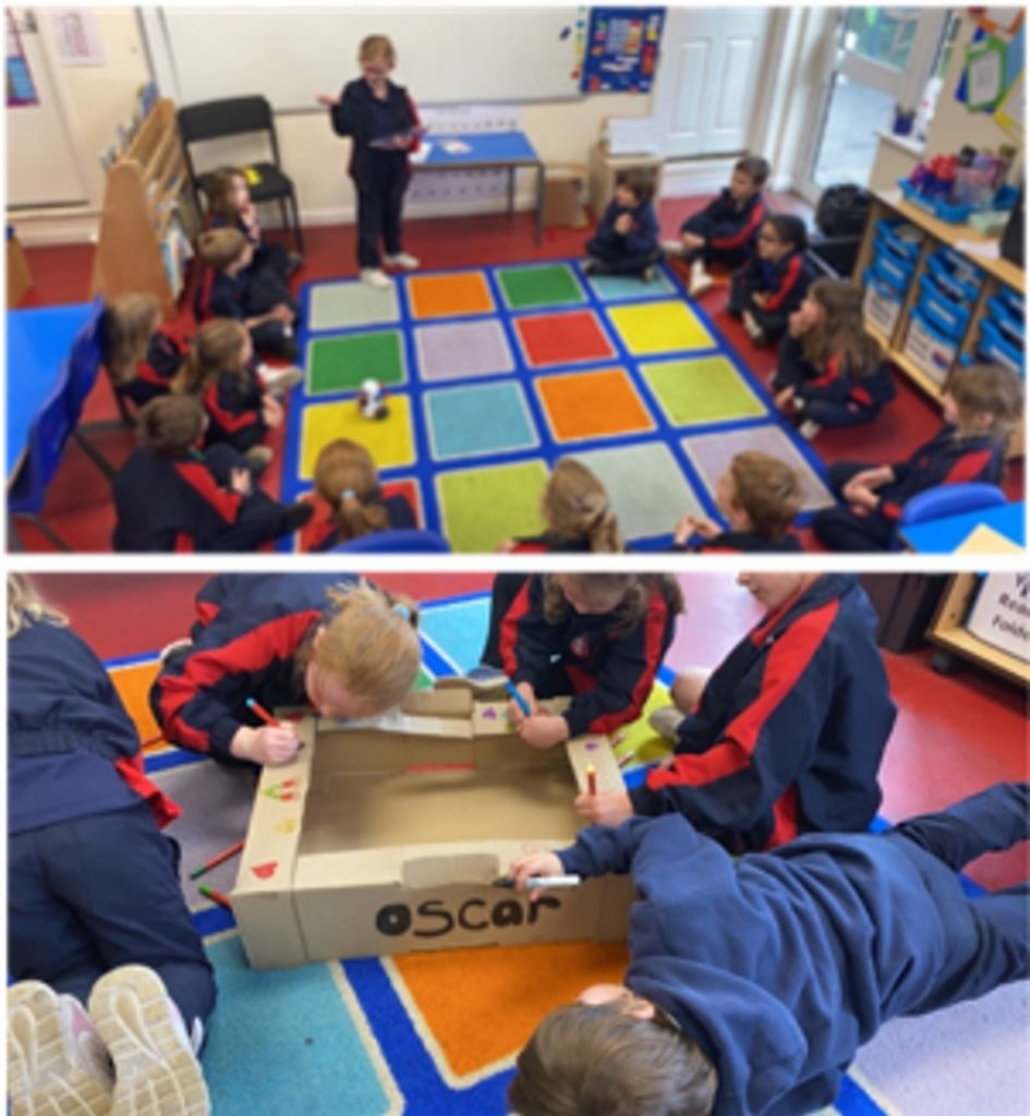 Year 2 Working as a team to design & decorate Oscar's new bed