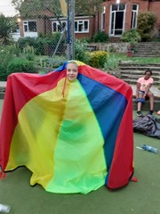 Modelling the new fashion the Parachute