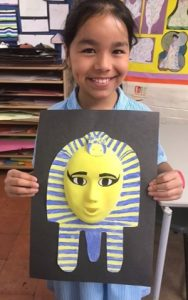 Year 4 have finished their Ancient Egyptian Death Masks