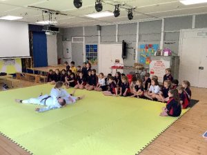 Year 3 Taking part in the Judo Demonstration